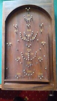 Vintage Table Top Bagatelle - Traditional Pin Ball Pub  Spring Ball Release Game