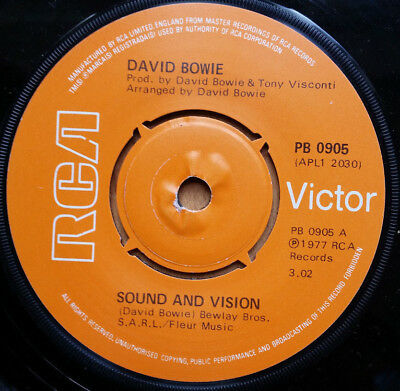 DAVID BOWIE Sound And Vision 7'' Single (1977) PB0905
