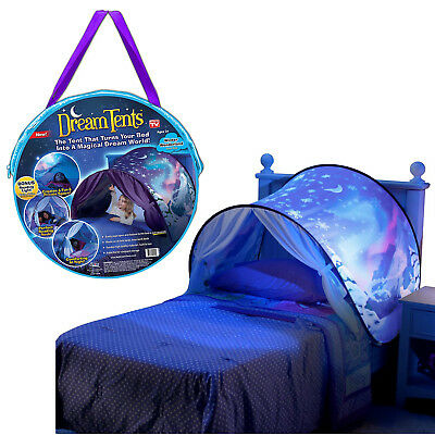 Dream Tents Pop Up Tent Winter Wonderland Twin Size Bed Toys Kids As Seen On Tv