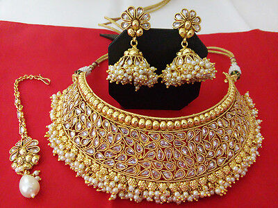 New Indian Fashion Jewelry Bridal necklace Set Bollywood ethnic traditional