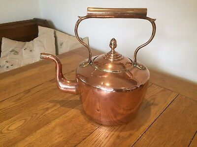 Antique Copper Kettle Large Dovetail Jointed