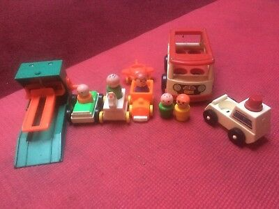 Vintage Fisher Price Little People And Vehicles