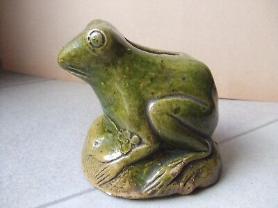 """ANCIENNE TIRELIRE A CASSER """"GRENOUILLE"""" ONNAING ORCHIES BARBOTINE a identifier"""