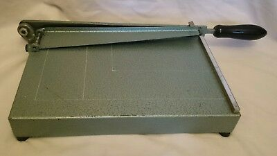 Vintage Metal Guillotine Paper cutter Office Industrial A4