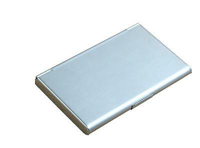 Pocket Stainless Steel & Metal Business Card Holder Case ID Wallet Silver FY