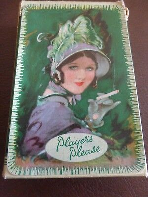 Boxed Players Please 52 Waddington Playing Cards No Jokers Green Backs