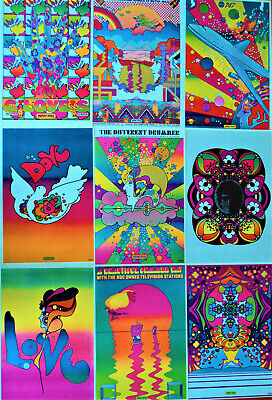 Vintage Peter Max Posters, 11x16, Psychedelic Pop Art, 48 years old, 45 options