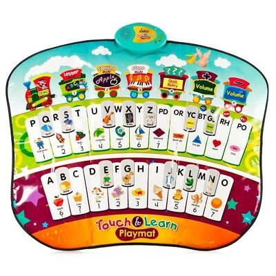 33 Key Educational Piano Mat with Music, Letters, and Spelling, Educational