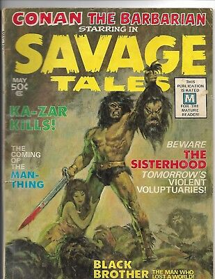 Savage Tales 1 Mid Grade 1st appearance of Man Thing