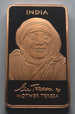 Mother Teresa Copper bullion Adiman Collectables Limited Edition 1 oz Proof Like