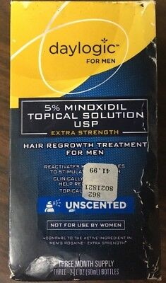 Daylogic Hair Regrowth Treatment For Men 5% Minoxidil Solution 3 Month Supply