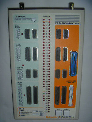 Cable Tester for 25, 15 & 9 pin D-connector Cables, RJ45, BNC & Centronics