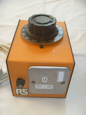 RS 2 Amp 240 Volt Variable Transformer (Variac) in Enclosure With 13 Amp Socket