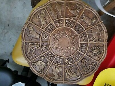 Hand Carved Wooden Horoscope