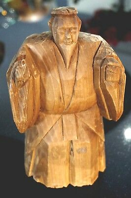 Vintage Carved Wooden Chinese Elder Figure