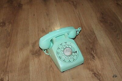 Vintage Bell System made by Western Electric -Turquoise Rotary Dial Desk Phone