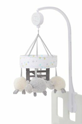 Silver Cloud Musical Cot Mobile - Counting Sheep