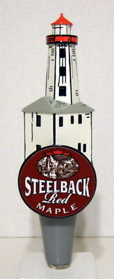 Steelback Red Maple Lighthouse Beer Tap Handle (New)