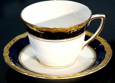 A Beautiful Royal Worcester Aston Demitasse Cup And Saucer