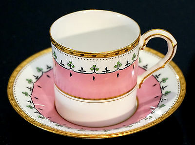 A Beautiful Royal Worcester/ Hardy Brothers Demitasse Cup And Saucer