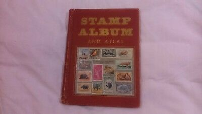 Old Stamp Album And Lots Of Stamps