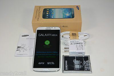 "New Samsung Galaxy Mega i527 White 16GB 6.3"" WiFi GPS 8MP Camera AT&T Unlocked"
