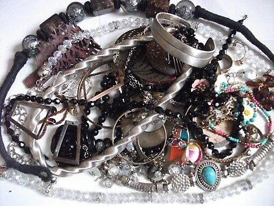 Large Lot Of Broken Jewellery For Craft Work
