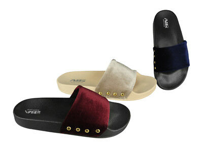 Wholesale Velvet Women's Slides Lot 24Prs-Pay $3.99/pr -ABS4116-W611