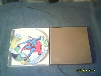 SUPERMAN #1 50th BIRTHDAY COLLECTORS PLATE #48 SIGNED W/ COA & ORIINAL BOX 1988