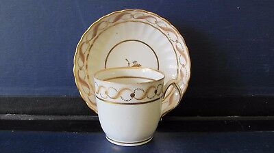 NEW HALL COFFEE CUP AND SAUCER PATTERN 142 c1810