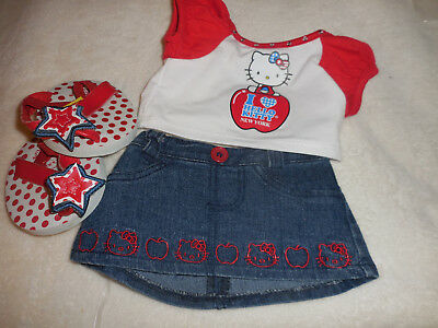 Build A Bear Hello Kitty Red Apple Design with red sandals