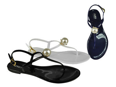 Jelly Pearls Women's Sandals Wholesale Lot 24Prs-Pay $6.99/pr -ABS4151-W611