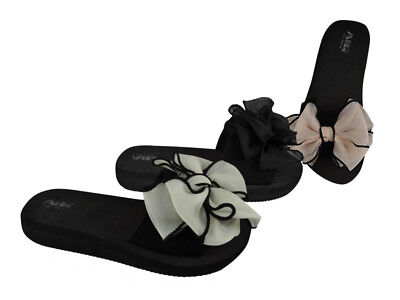 Bow Women's Slides Wholesale Lot 24Prs-Pay $6.99/pr -ABS4146-W510