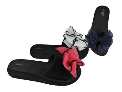 Bow Women's Slides Wholesale Lot 24Prs-Pay $6.99/pr -ABS4147-W510