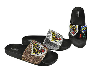 Sparkly Women's Slides Wholesale Lot 24Prs-Pay $6.99/pr -ABS4135-W510