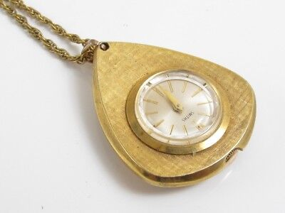 Vintage Smiths Manual Wind Mechanical Movement Ticking Pendant Watch