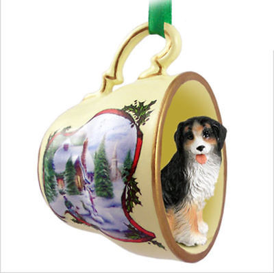 Bernese Mountain Dog Christmas Holiday Teacup Ornament Figurine
