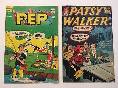 Patsy Walker #94 & PEP Comics #186 (1961, Marvel & 1965, Archie)