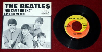 THE BEATLES - Can't Buy Me Love, You Can't Do That, CAPITOL Records # 5150 NICE