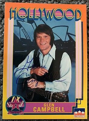 Glen Campbell Signed Autographed Photo. Rhinestone Cowboy. Southern Nights.