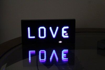 """Led Lighted """"Love"""" Table Top Decorative Sign Moving Message"""