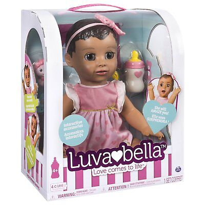 Luvabella Brunette Baby Doll - 100% AUTHENTIC - BRAND NEW - FREE & FAST SHIPPING
