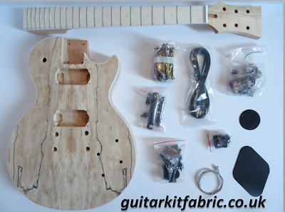DiY Electric Guitar kit - LP deluxe, mahogany/spalted body