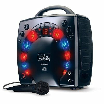 Karaoke Singing Machine Portable Party Disco Lights Microphone With 3 CD's