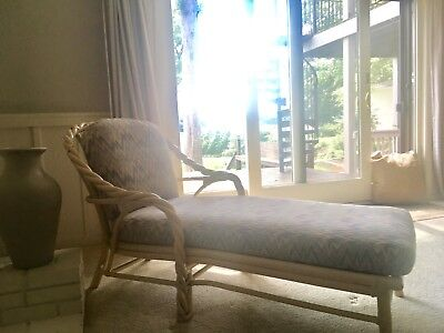 McGuire of San Fransisco white washed twisted bamboo chair
