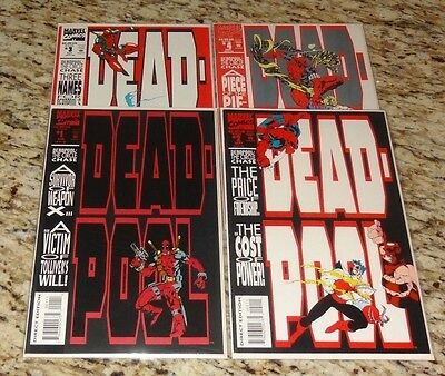 DEADPOOL CIRCLE CHASE 1 2 3 4 - 1st Print -  Marvel Comics 1997 High Grade HOT
