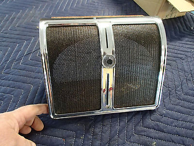 Rear Seat Speaker Assembly 1966 67 68 1969 1970 Buick Riviera Grill Chrome Bezel