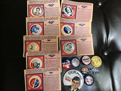 Lot of President CampaignPolitical Pins plus a Coin