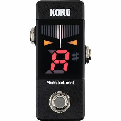 Korg PB01MINI Pitchblack Mini Pedal Tuner for Guitar and Bass, Black +Ships Free