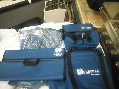 Laerdal Little Anne CPR TRAINING MATS AND CASE , AND BAG LOT OF 5 PEICES